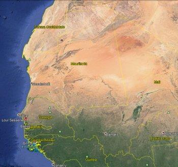 Vista satellitare Senegal